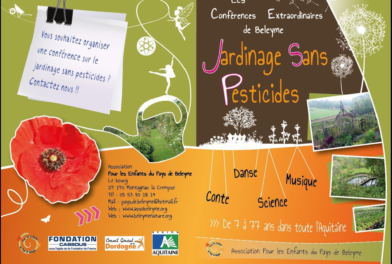 Dépliant de la Conférence Jardinage sans pesticides@EPB