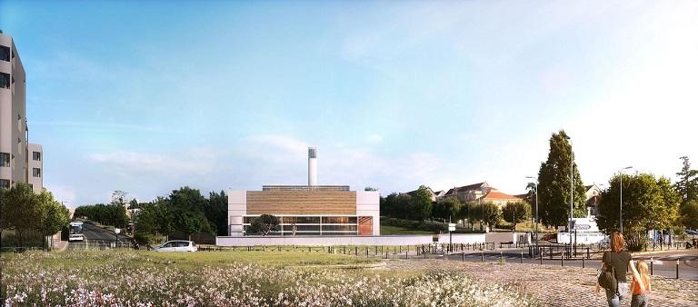 La chaufferie bois va permettre de réduire annuellement les émissions de CO2 © Atelier Schweitzer Architectes