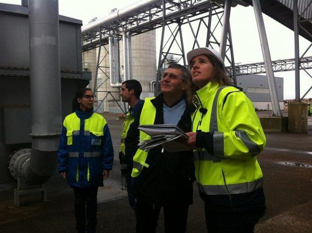Sophie Delmas, inspectrice à la DREAL et Philippe Cotte, directeur du site