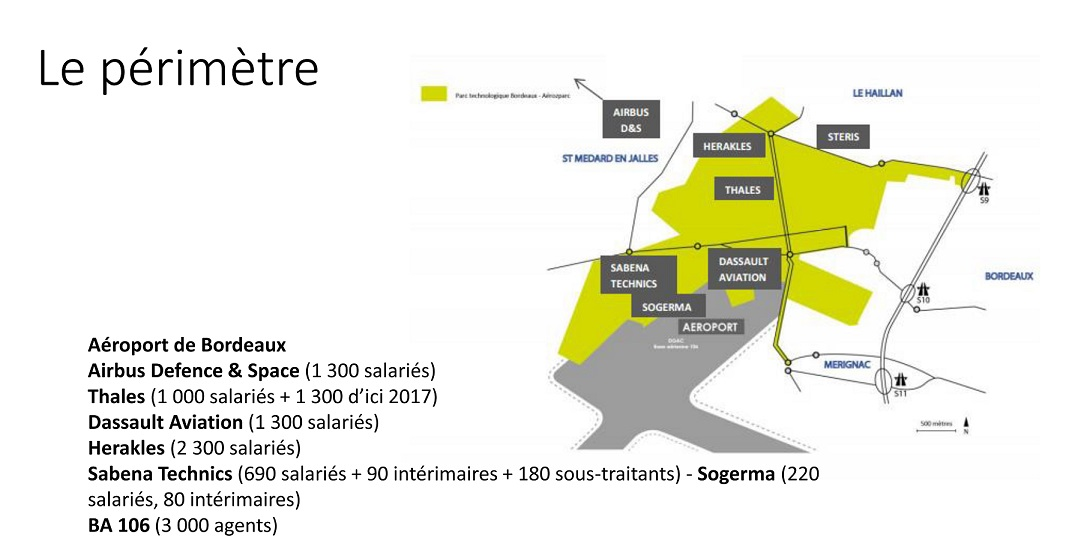 Le périmètre du PDIE de Mérignac concerne 20 000 salariés à terme©Bordeaux Technowest