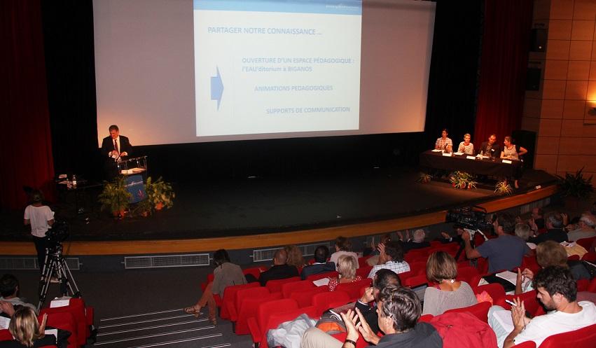 La conférence Eaux en partage a réuni une centaine de personnes©GRAINE Aquitaine