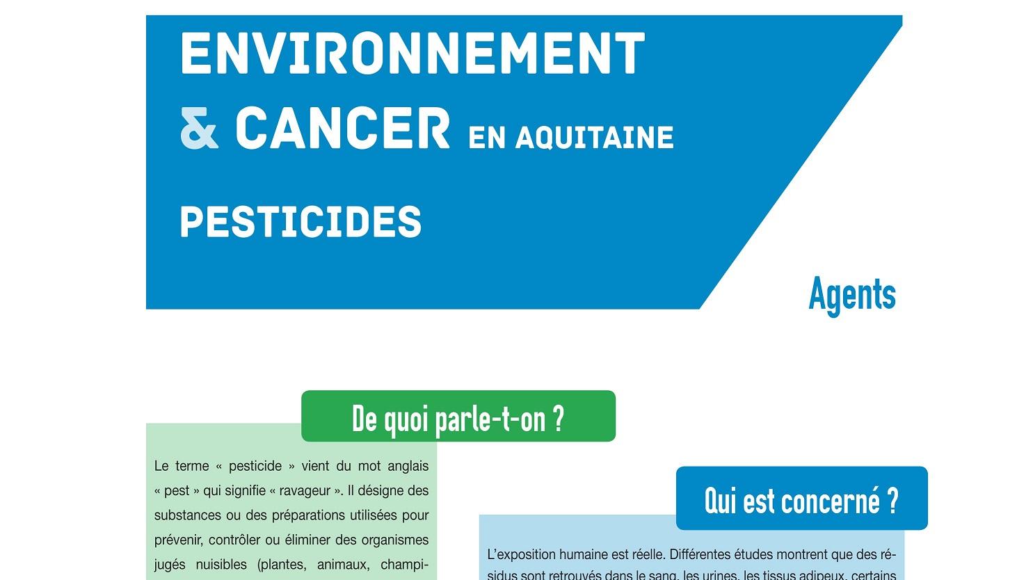 02f7182f29e33d Cancer et environnement   l ORSA publie des fiches pour clarifier l ...