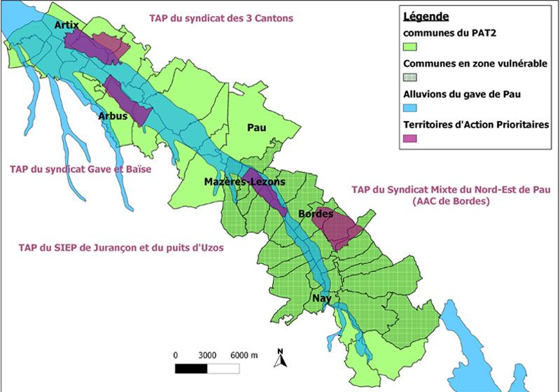 Carte du territoire du PAT©PAT du Gave de Pau