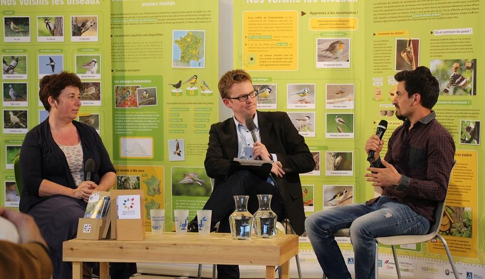Isabelle Baldi, Eloi Choplin et Guillaume Tartare à la Maison écocitoyenne©GRAINE Aquitaine