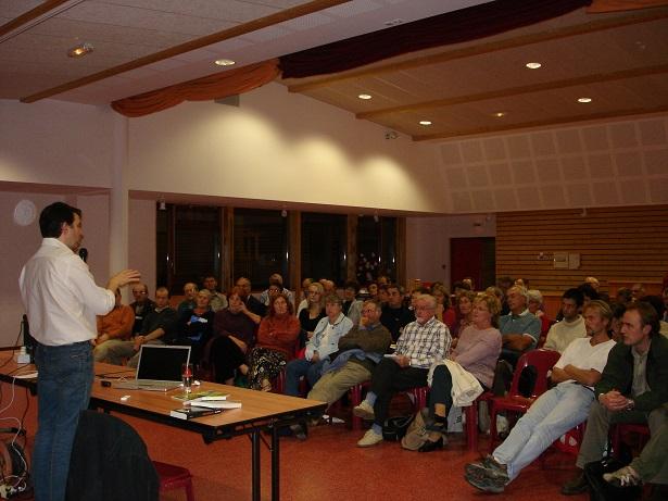 70 personnes ont assisté à la conférence de Philippe Perrin©Philippe Perrin