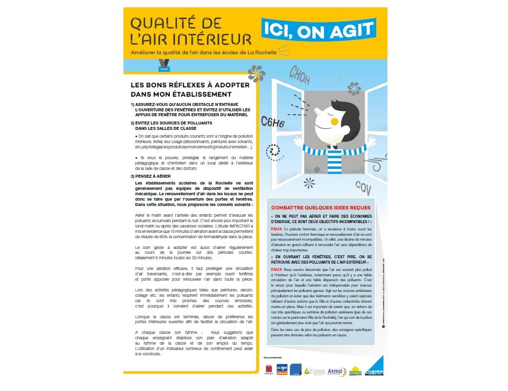 L'affiche qui accompagne le guide © Ville La Rochelle