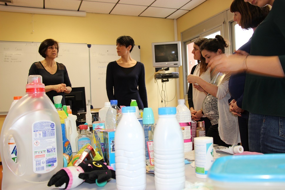 170 futurs parents ont participé aux ateliers Nesting du Pôle mère-enfant © GRAINE Aquitaine