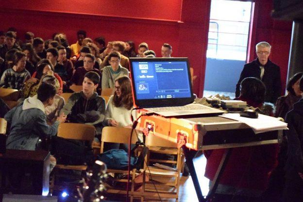 Des moments d'interaction sont organisés avec les classes du lycée © Hiero Limoges