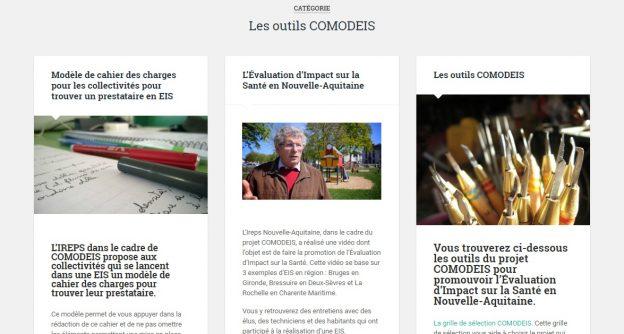 Les outils COMODEIS sur la plateforme Santé et territoires