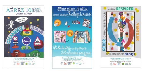 Les 3 affiches gagnantes - Landes, Charente-Maritime et Haute-Vienne