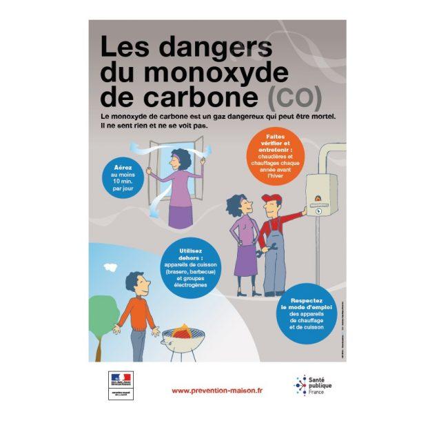 L'affiche montre comment de simples gestes contribuent à réduire les risques©SPF