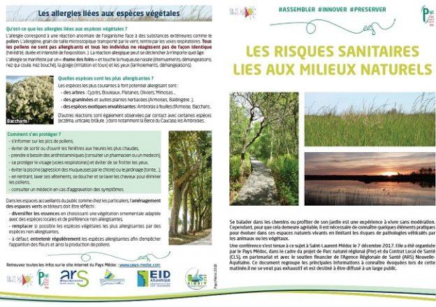 Plaquette Risques sanitaires milieux naturels