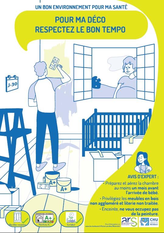 L'affiche Chambre du bébé © CHU Bx