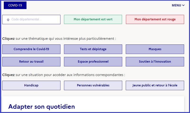 Adapter son quotidien-Déconfinement@gouv.fr