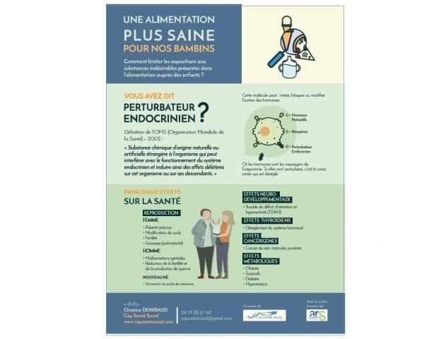 Un flyer qu'on peut coller sur son frigo © Cap Santé Social