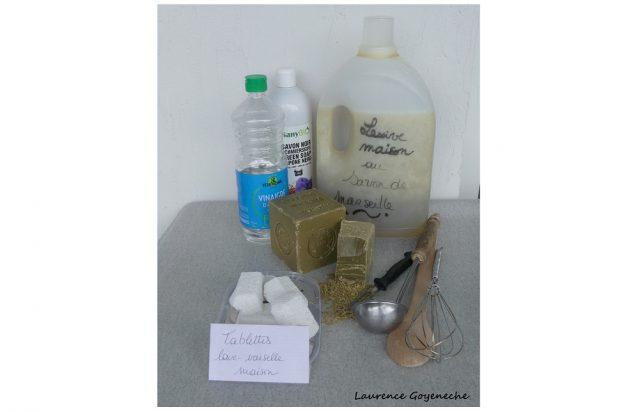 Objectif apprendre à fabriquer quatre sortes de produits d'entretien © CPIE PB