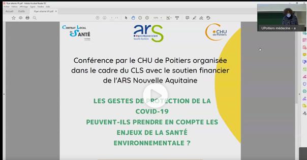 La conférence peut être visionnée en ligne © Ville de Poitiers