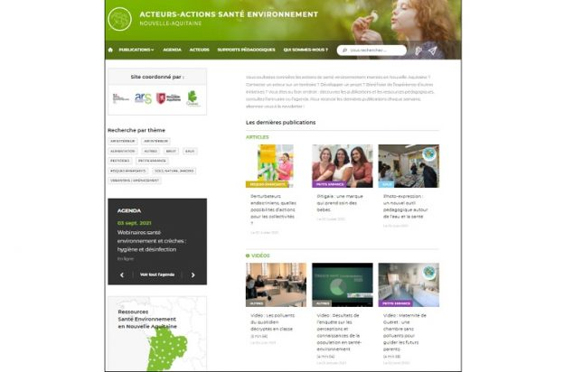 La page d'accueil du site © GRAINE NA