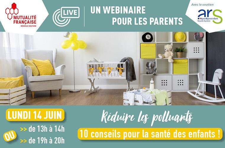 Un atelier en ligne destiné aux parents pour réduire la pollution intérieure © MFNA